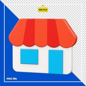 Progettazione 3d del negozio