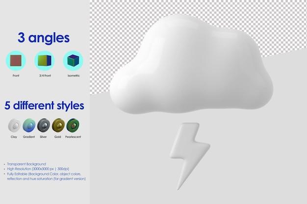Icona di tempesta 3d