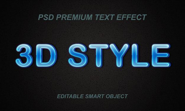 Progettazione di effetto del testo di stile 3d Psd Premium
