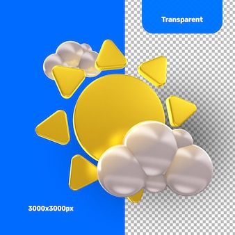 Rendering 3d delle nuvole del sole