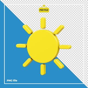 Disegno dell'icona del sole 3d