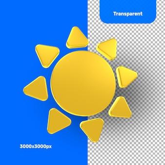 Rendering 3d del sole