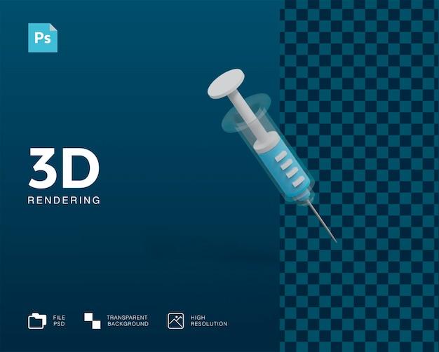 Illustrazione della siringa 3d