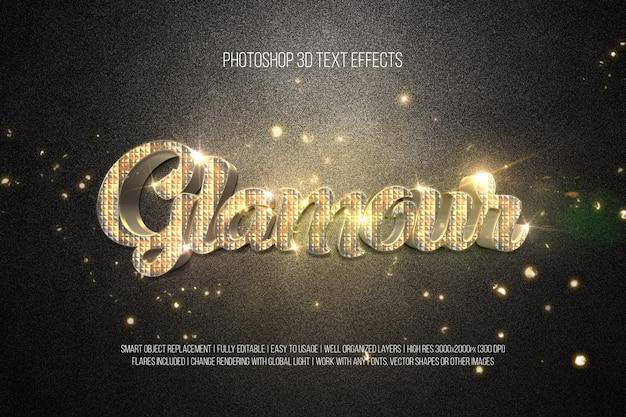 Effetti di testo 3d - glamour