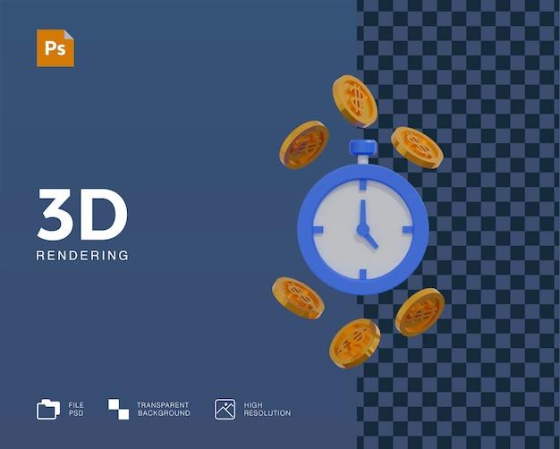 Il tempo 3d è denaro illustrazione