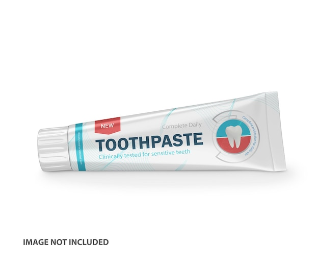 Mockup psd tubo di plastica dentifricio 3d