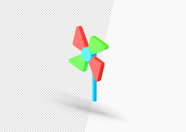 Rendering isolato razzo giocattolo 3d