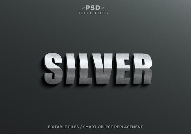 Modello di testo effetto triangolo 3d argento