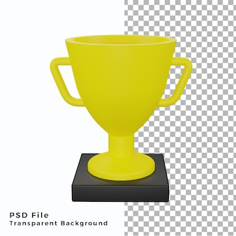 3d trofeo icona illustrazione oggetto di alta qualità