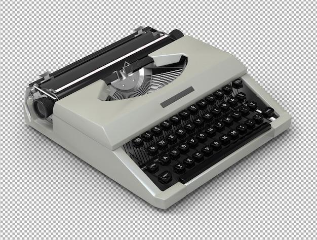 Macchina da scrivere 3d isolata.