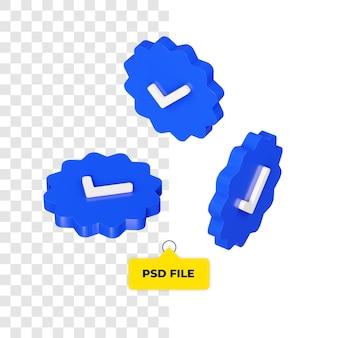 Icona di verifica 3d su tutti i lati