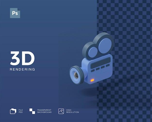 Illustrazione della videocamera 3d