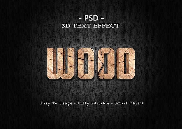 Effetto stile testo in legno 3d