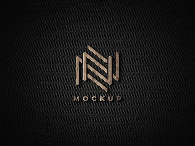 Logo in legno 3d mockup design