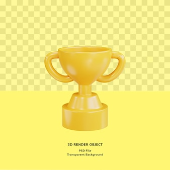 3d giallo trofeo isolato reso