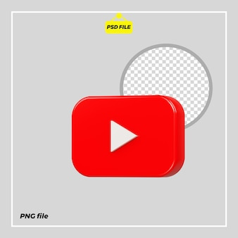Icona youtube 3d