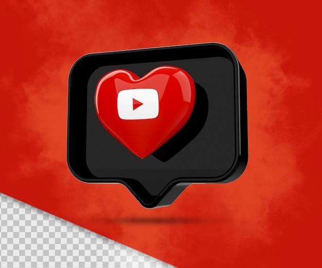 Icona di rendering di youtube 3d
