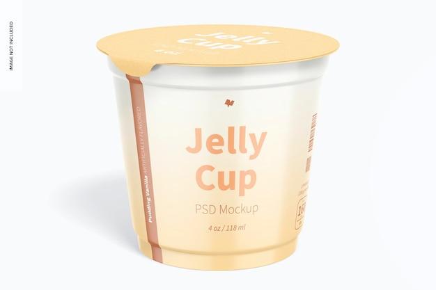 4 oz jelly cup mockup, vista frontale