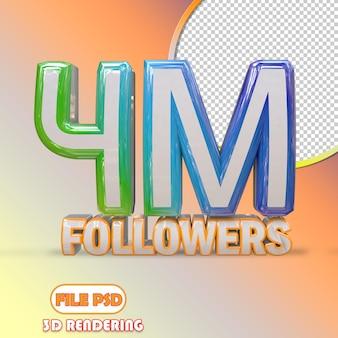 4m follower
