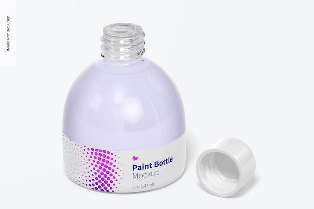 5 oz paint bottle mockup