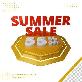 Offerta di sconto estivo 3d del 55% nel rendering 3d