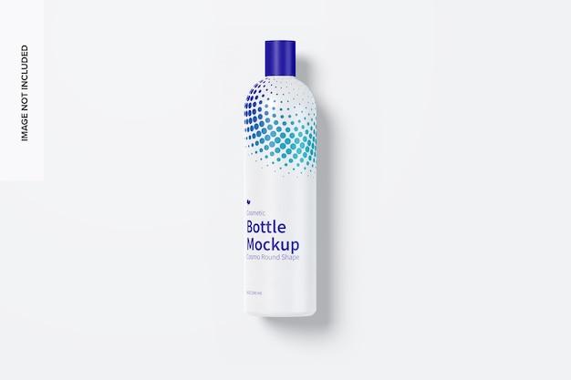 8 oz / 240 ml mockup di flacone cosmetico arrotondato