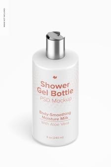 Mockup di bottiglia di gel doccia da 8 once