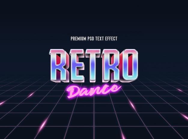 Modello effetto testo retrò e classico stile anni '80