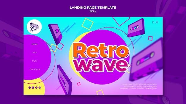 Modello di design della pagina di destinazione retrò anni '90