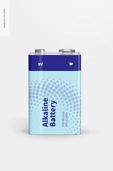 Mockup di batteria alcalina da 9 v