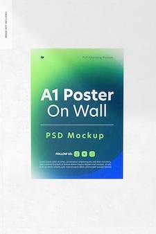 Poster a1 su mockup a parete
