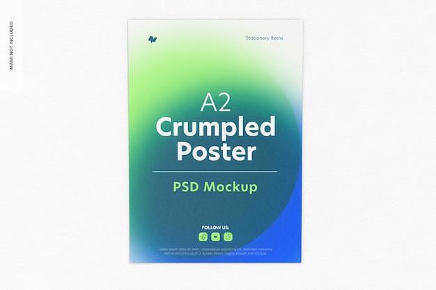 Mockup di poster stropicciato a2