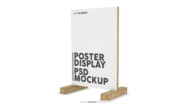 Display verticale per poster formato a3 psd mockup