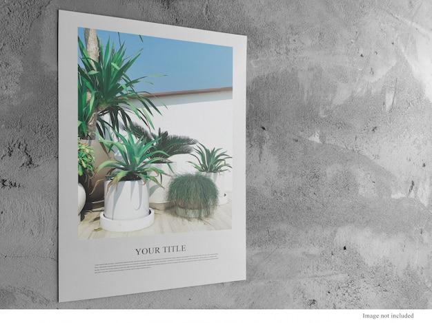 A3 poster modello minimo pulito sulla parete del sottotetto