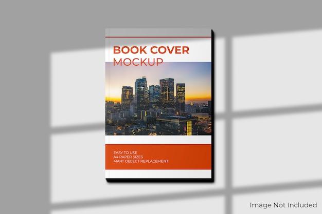 Mockup di copertina del libro a4 con ombra