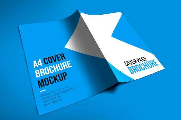 Mockup di brochure copertina a4