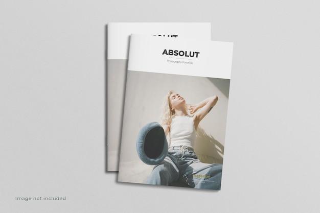 Modello di rivista con copertina a4