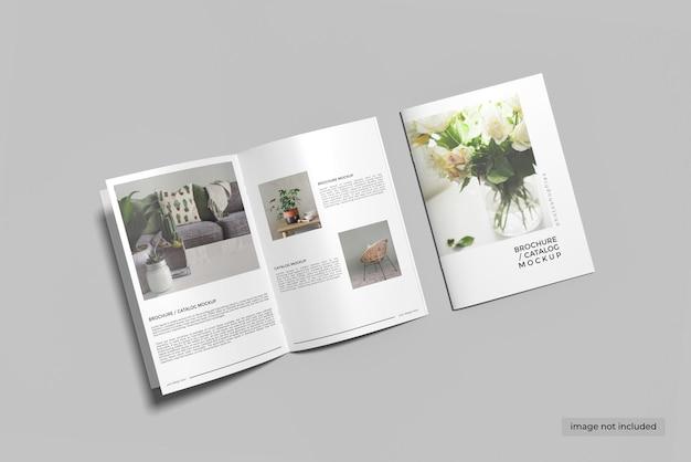 Copertina a4 e design mockup catalogo brochure aperto