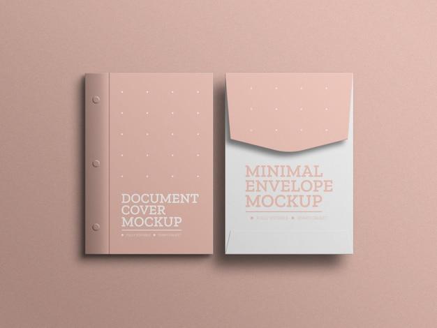 Busta a4 con mockup di documenti