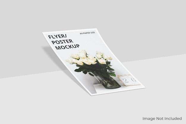Progettazione di mockup di brochure flyer a4