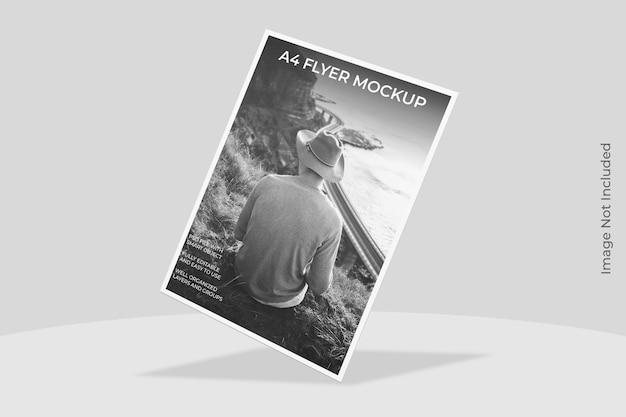 Design di mockup per brochure volantino a4