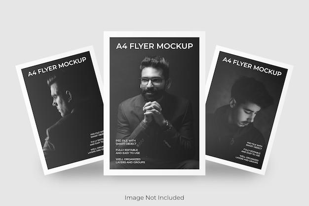 Mockup di brochure flyer a4