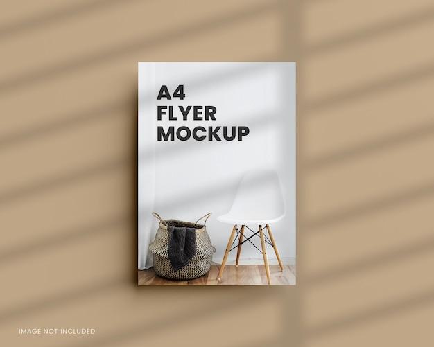 Mockup di volantino a4 in rendering 3d