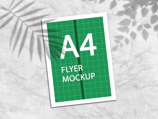 Rendering di progettazione mockup a4 flyer