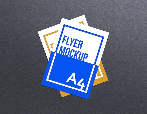 Mockup flyer a4