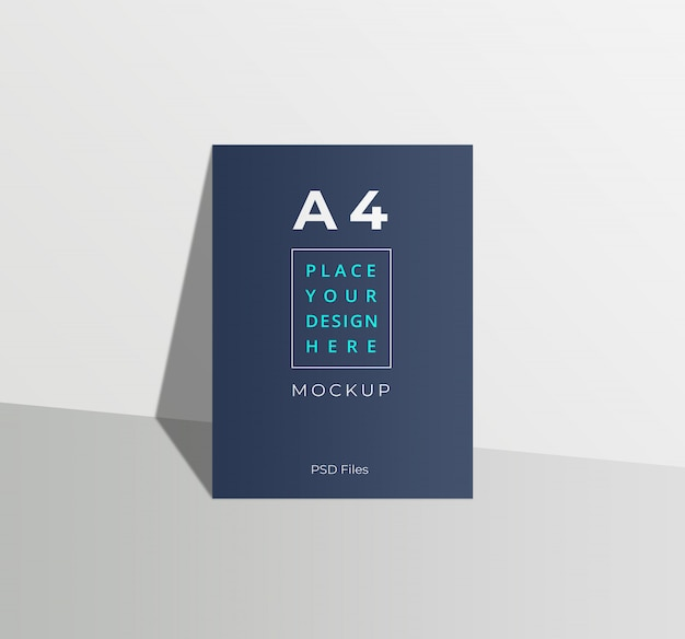 A4 flyer psd mockup
