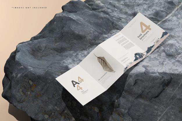 Mockup di brochure a quattro pieghe in formato a4