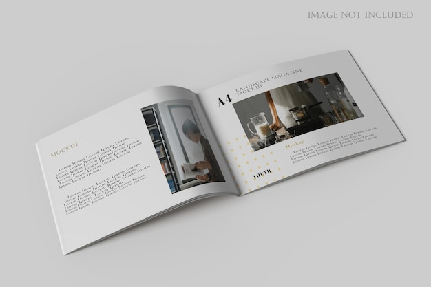 Modello di brochure orizzontale a4