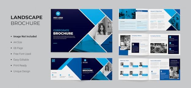 Modello brochure - paesaggio a4 Psd Premium