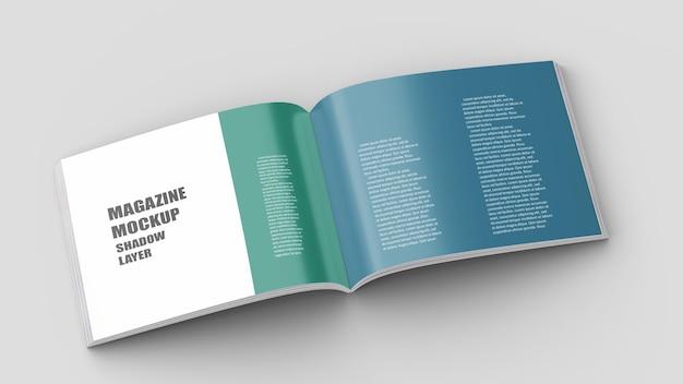 Mockup di brochure con rilegatura perfetta in formato a4 orizzontale